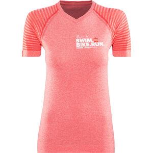 Compressport SwimBikeRun Training T-Shirt Damen pink pink