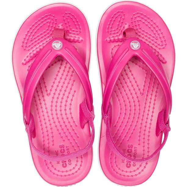 Crocs Crocband Strap Flip Sandalen Kinder candy pink