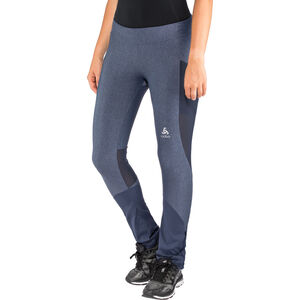 Odlo Exo Tights Damen blue indigo melange-diving navy blue indigo melange-diving navy