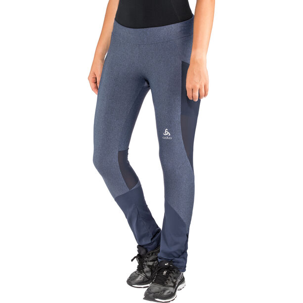 Odlo Exo Tights Damen blue indigo melange-diving navy