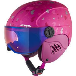 Alpina Carat LE Visor HM Helmet Kinder berry-hearts matt berry-hearts matt