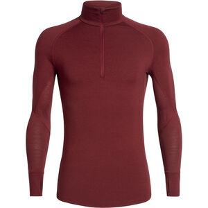 Icebreaker 260 Zone Langarm Half Zip Shirt Herren cabernet/chili red cabernet/chili red