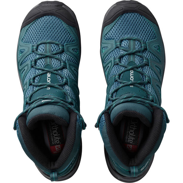 Salomon X Ultra Mid 3 Aero Shoes Damen mallard blue/reflecting pond/tropical green