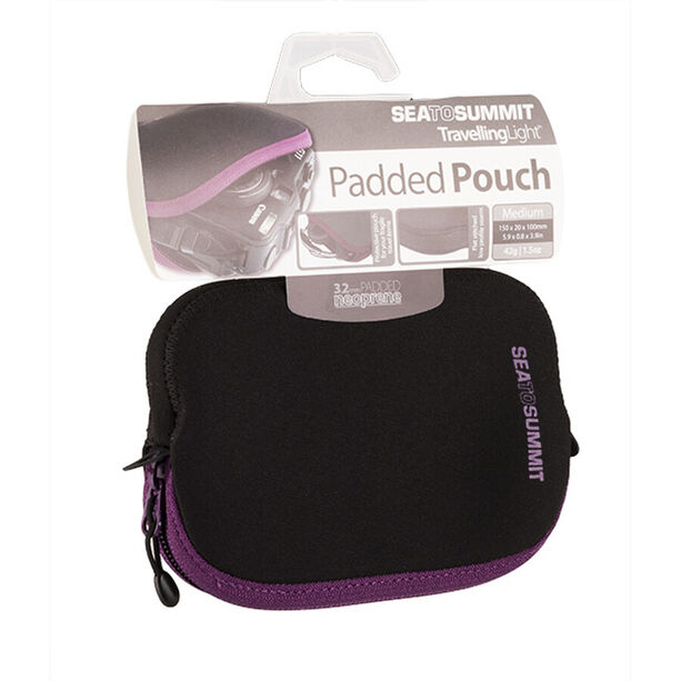 Sea to Summit Travelling Light Padded Pouch Medium berry/black