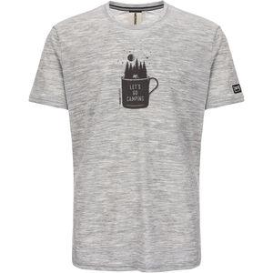 super.natural Graphic T-Shirt Herren ash melange/killer khaki camper print ash melange/killer khaki camper print
