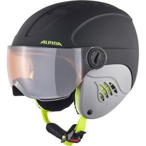 Alpina Carat LE Visor HM Helmet Kinder charcoal-neon matt charcoal-neon matt