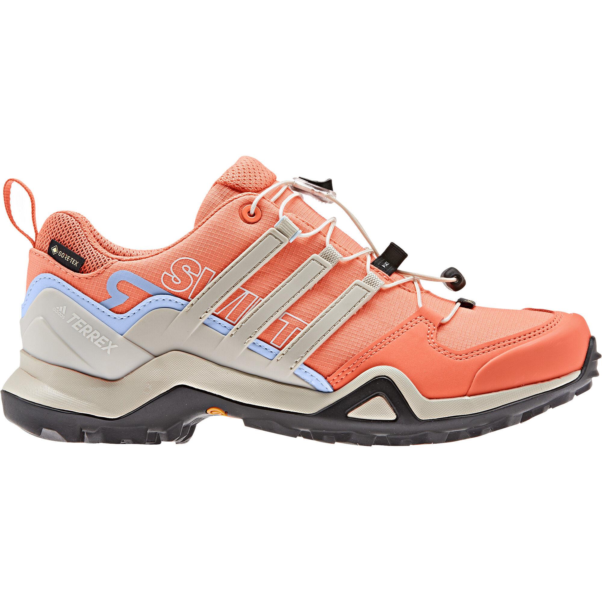 Damen Terrex Speed GTX Schuhe glow blue white coral UK 4