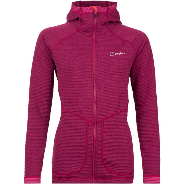Berghaus Redonda Hooded Fleece Jacket Damen sangria/poinsettia