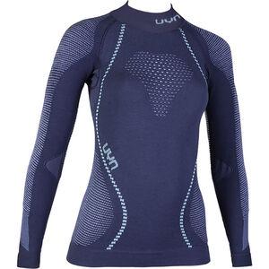 UYN Ambityon UW Rollkragen-Langarmshirt Damen deep blue/white/light blue deep blue/white/light blue