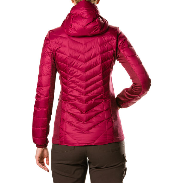 Berghaus Tephra Reflektierende Stretch-Daunenjacke Damen beet red