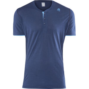 Aclima LightWool Henley Shirt Herren insignia blue/blithe insignia blue/blithe