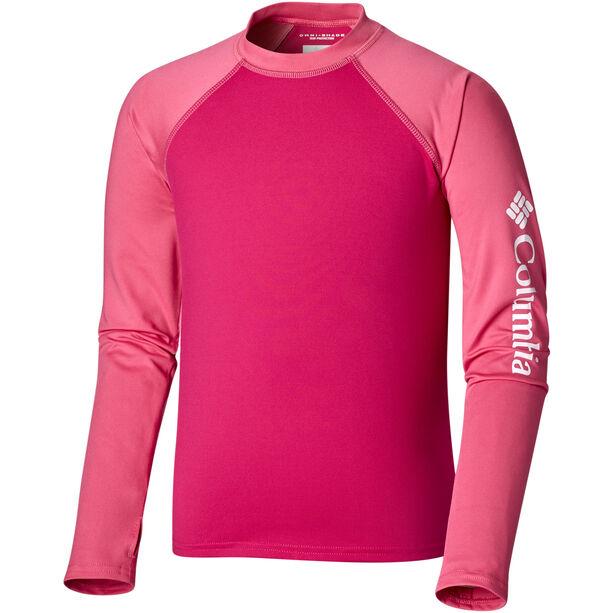Columbia Sandy Shores Longsleeve Sunguard Shirt Kinder haute pink/wild geranium/nocturnal