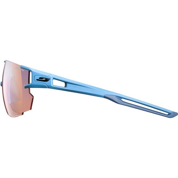 Julbo Aerospeed Zebra Light Red Sunglasses cyan blue/multilayer blue