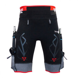 KiWAMi Equilibrium Trail Shorts black/red black/red