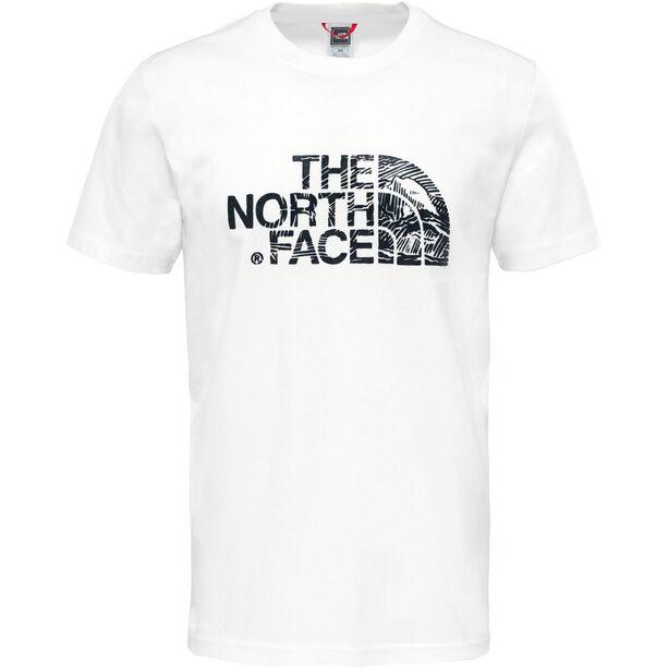 The North Face Wodcut Dome Kurzarm T-Shirt Herren white/black