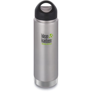 Klean Kanteen Wide Vacuum Insulated Bottle Stainless Loop Cap 592ml brushed stainless brushed stainless