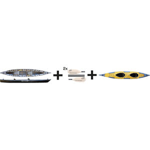 Pakboats Puffin Saranac Kayak Jubelpaket yellow/black yellow/black
