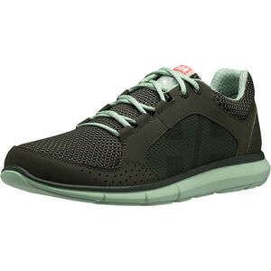 Helly Hansen Ahiga V3 Hydropower Shoes Damen forest night/cameo green/neon coral forest night/cameo green/neon coral