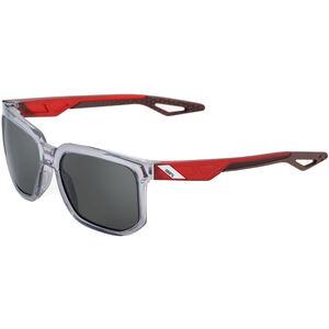 100% Centric Smoke Glasses polished crystal grey polished crystal grey