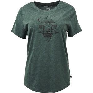 United By Blue Mountain Mist SS Graphic T-Shirt Damen evergreen evergreen