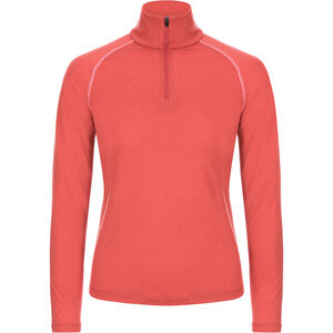super.natural Base 175 1/4 Zip Langarmshirt Damen tandoori/georgia peach tandoori/georgia peach