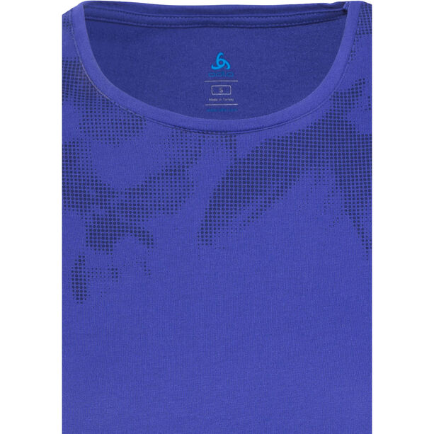 Odlo Signo Shirt SS Crew Neck Damen spectrum blue-placed print ss17