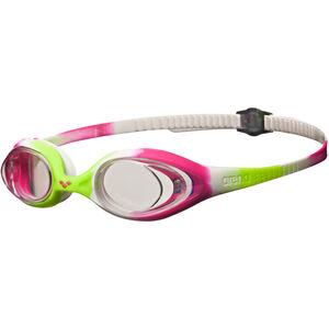 arena Spider Goggles Kinder lime fuchsia-white-clear lime fuchsia-white-clear