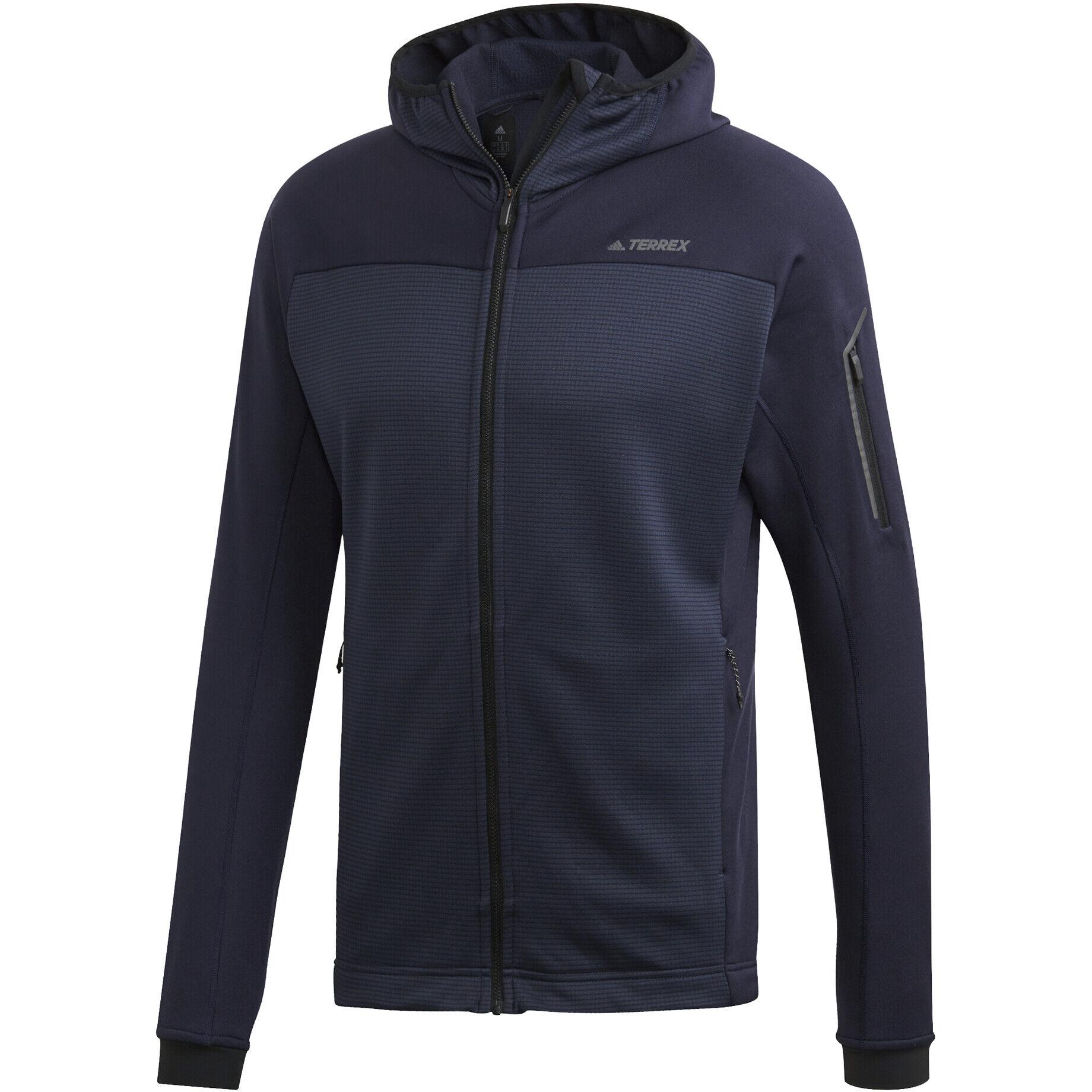 adidas TERREX Stockhorn Hooded Fleece Jacket Herren legend ink