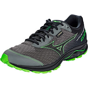 Mizuno Wave Rider GTX Running Shoes Herren gunmetal/black/green slime gunmetal/black/green slime