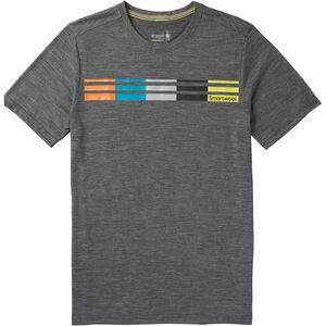 Smartwool Merino Sport 150 Flag Logo Tee Herren medium gray heather medium gray heather