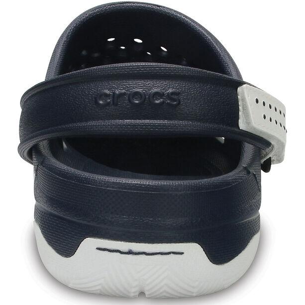 Crocs Swiftwater Deck Clogs Herren navy/white