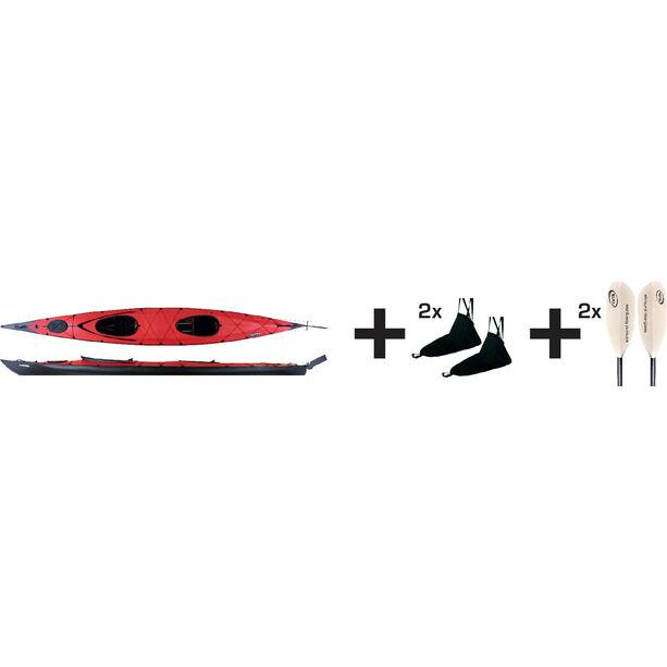 Triton advanced Ladoga 2 Advanced Kayak Jubelpaket rot/schwarz