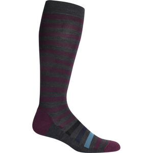 Icebreaker Lifestyle Light OTC Legacy Stripe Socken Damen jet heather jet heather