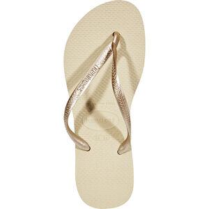 havaianas Slim Flips Damen sand grey/light golden sand grey/light golden
