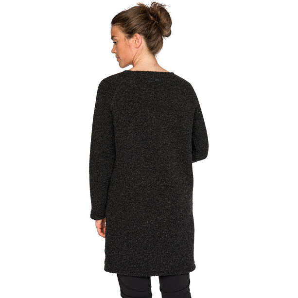 Varg Fårö Long Wool Dress Damen dark anthracite