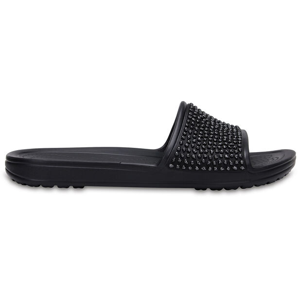Crocs Sloane Embellished Slides Damen black/black