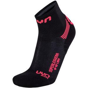 UYN Run Superleggera Socks Damen black/coral fluo black/coral fluo