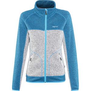 Meru Märsta Knitted Fleece Jacket Damen seaport melange seaport melange