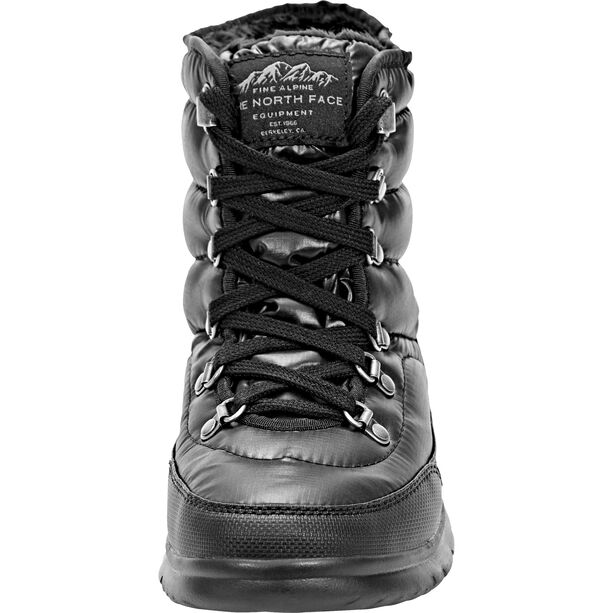 The North Face Thermoball Lace II Shoes Damen shiny tnf black/iron gate grey