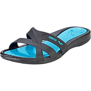 arena Athena Hook Sandals Damen black-turquoise black-turquoise