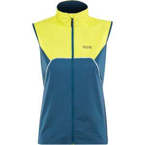 GORE WEAR R7 Partial Gore-Tex Infinium Vest Damen deep water blue/citrus green deep water blue/citrus green