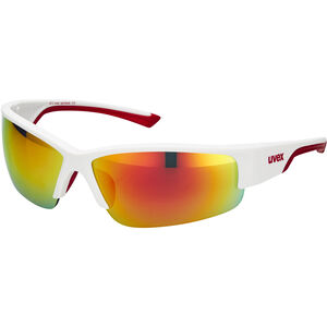 UVEX Sportstyle 215 Sportbrille white mat red/red