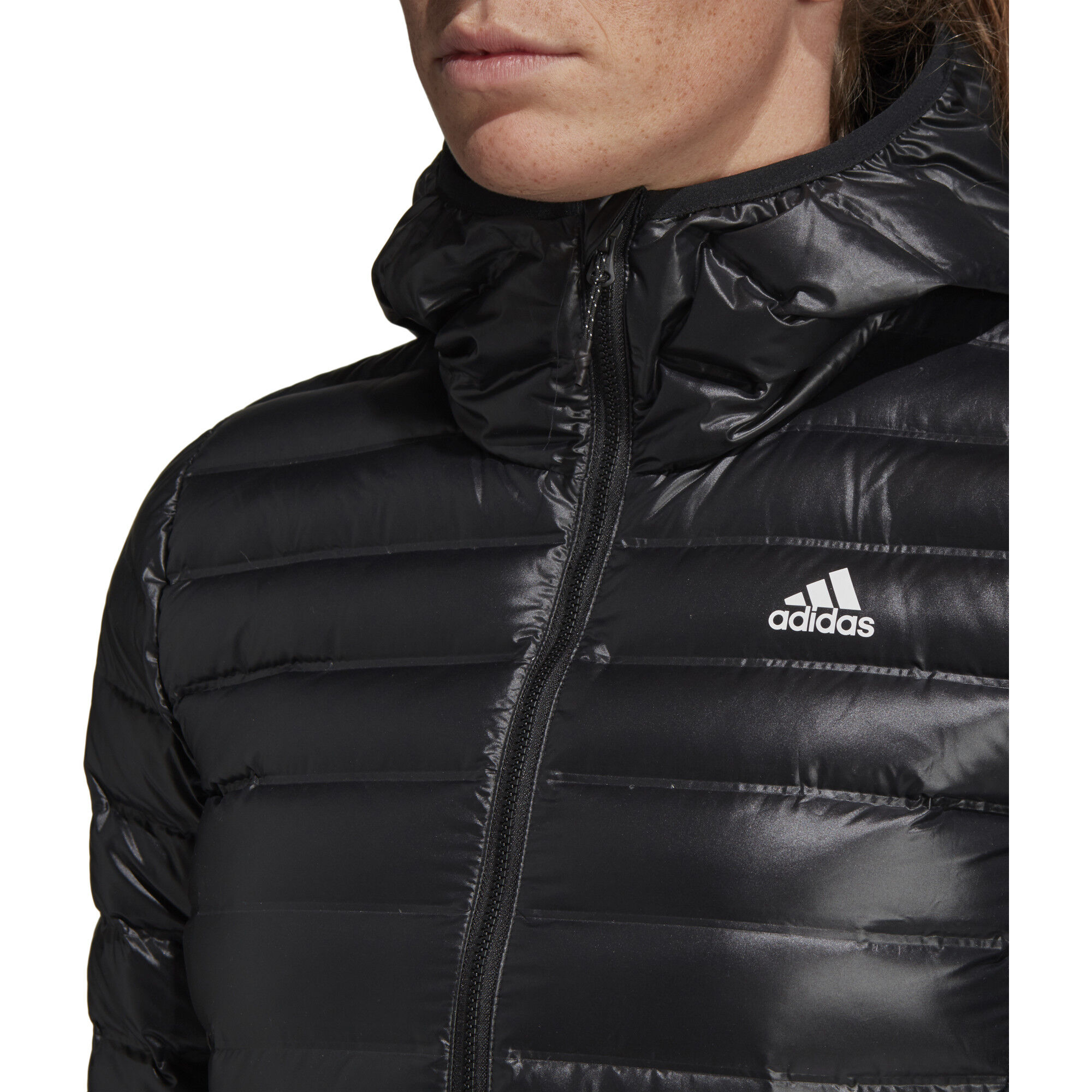 oben adidas TERREX Varilite Kapuzen Daunenjacke Damen black