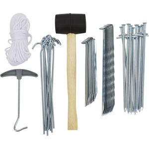 CAMPZ Zeltzubehör-Set 50 Teile silber silber