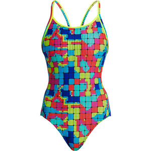 Funkita Diamond Back One Piece Badeanzug Damen heat map heat map