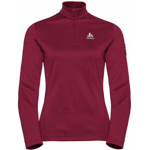 Odlo Pillon Midlayer 1/2 Zip Damen rumba red