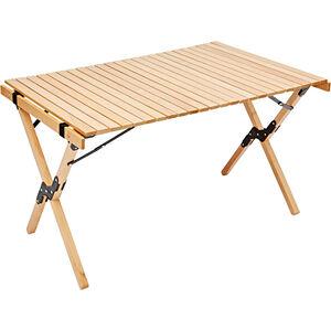 CAMPZ Buchenholz Rolltisch 90x60x53cm braun braun