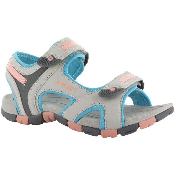 Hi-Tec GT Strap Sandals Kinder cool grey/curacou blue/ papaya punch