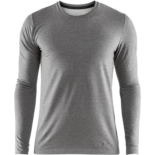 Craft Essential Warm Round-Neck LS Shirt Herren dk grey melange