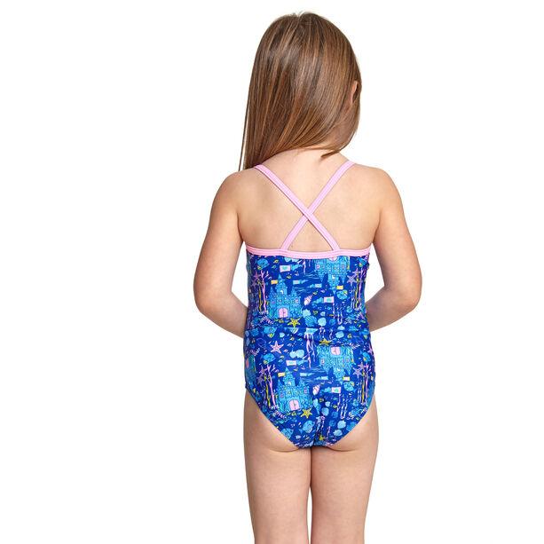 Zoggs Undersea V Back Swimsuit Mädchen blue/multi